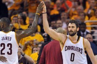 kevin love et lebron james