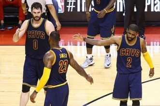 lebron james kevin love kyrie irving
