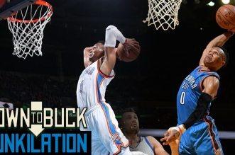 Les 68 dunks de Russell Westbrook cette saison