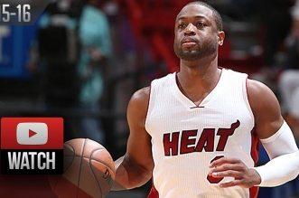 Les highlights de Dwyane Wade face aux Raptors: 30 points