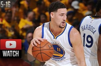Les highlights de Klay Thompson (37 pts) et Draymond Green (triple-double) face aux Blazers