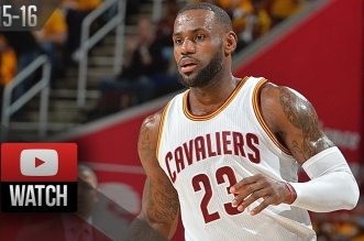 Les highlights de LeBron James (25 pts, 9 asts) et Kyrie Irving (21 pts, 8 asts)