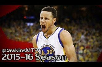 Les highlights de Stephen Curry(36 pts)et Klay Thompson (21 pts)