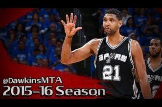 Les highlights (du dernier match ?) de Tim Duncan: 19 points