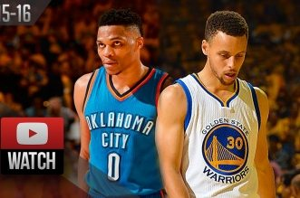 Les highlights du duel Russell Westbrook (27 pts, 12 asts) – Stephen Curry (26 pts, 7 asts)