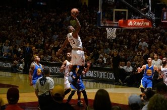 LeBron James dunk cavaliers