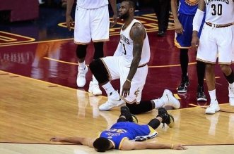 LeBron James et Stephen Curry Cavaliers Warriors Game 6