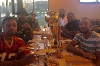 LeBron James larry O'Brien trophy