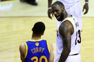 LeBron james et Stephen Curry Cleveland Golden State