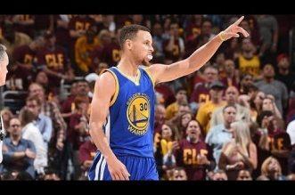 Les highlights de Stephen Curry (38 pts) et Klay Thompson (21 pts)