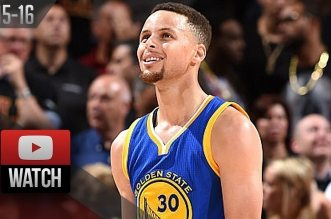 Les highlights de Stephen Curry (30 pts) et Klay Thompson (25 pts)