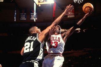 Tim Duncan et Michael Jordan