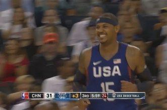 Les highlights de DeMarcus Cousins (21 pts et 11 rebs) et Carmelo Anthony (20 pts dont 16 dans le 3ème quart) contre la Chine