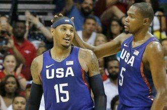 Carmelo Anthony et Kevin Durant