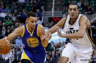Rudy Gobert et Stephen Curry