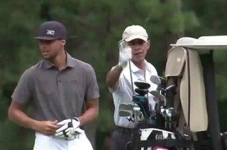 Stephen Curry et Barack Obama