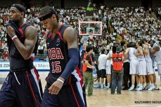 Carmelo Anthony et LeBron James Team USA Grèce 2006