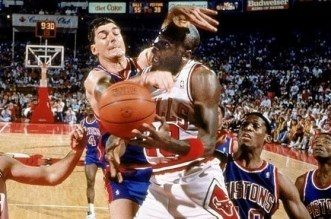 Michael Jordan et Bill Laimbeer