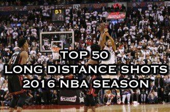 Le Top 50 des shoots longue distance de la saison NBA 2015-16