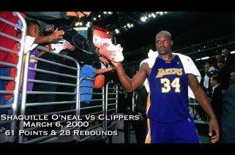 Vintage: le jour où Shaq a détruit les Clippers pour son anniversaire