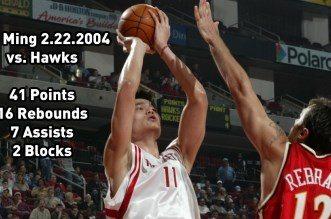 Vintage: Retour sur le meilleur match en carrière de Yao Ming