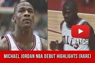 Il y a 32 ans Michael Jordan effectuait ses débuts en NBA