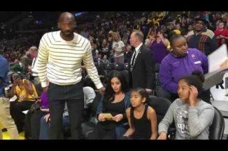 Kobe Bryant en famille pour assister aux Finales WNBA