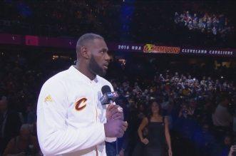 Le speech de LeBron James après la cérémonie de remise des bagues