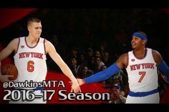 Les highlights de Carmelo Anthony (16 pts) et Kristaps Porzingis (12 pts) face à Brooklyn
