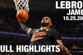 Les highlights de LeBron James (triple-double) et du duel Kyrie Irving (29 pts) – Derrick Rose (17 pts)