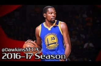 Les highlights de Stephen Curry (32 points) et Kevin Durant (27 points)