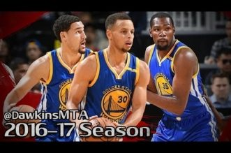 Les highlights du trio Klay Thompson (24 pts), Kevin Durant (17 pts) et Stephen Curry (14 pts)