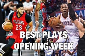 Mix: le meilleur de la première semaine NBA