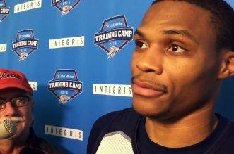 Russell Westbrook ironise sur les déclarations de Kevin Durant: «C'est mignon»