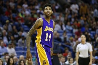 NEW ORLEANS, LA - NOVEMBER 12:  Brandon Ingram #14 of the Los Angeles Lakers reacts during a game against the New Orleans Pelicans at the Smoothie King Center on November 12, 2016 in New Orleans, Louisiana. NOTE TO USER: User expressly acknowledges and agrees that, by downloading and or using this photograph, User is consenting to the terms and conditions of the Getty Images License Agreement.  (Photo by Jonathan Bachman/Getty Images)
