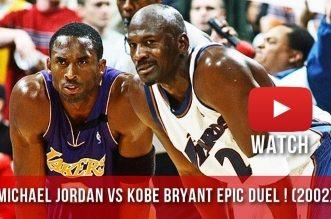 Il y a 14 ans Michael Jordan et Kobe Bryant se livraient un beau duel