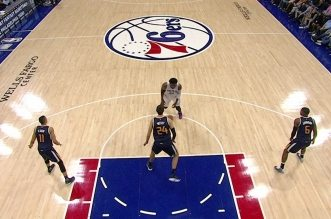 Joel « The Dream » Embiid en action contre le Jazz