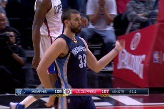 Le game winner de Marc Gasol face aux Clippers, avec la petite danse en bonus