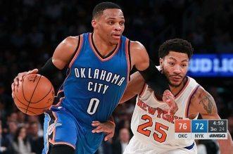 Le monstre à 3 têtes Russell Westbrook martyrise les Knicks au Madison Square Garden
