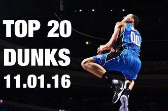 Le Top 20 dunkset les meilleurs moves de la nuit en NBA