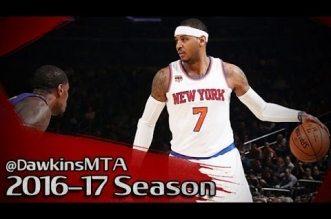 Les highlights de Carmelo Anthony (35 pts, 14 rbds), Kristaps Porzingis (16 pts) et Derrick Rose (16 pts)