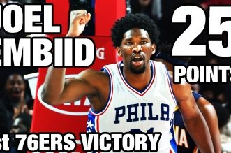 Les highlights de Joel Embiid face aux Pacers: 25 points en 25 minutes