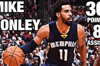 Les highlights de Mike Conley face aux Clippers: 30 points à 7/9 à 3-pts et 8 passes
