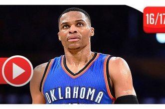 Les highlights de Russell Westbrook face aux Lakers: 34 points, 8 rebonds et 13 passes