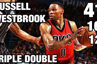 Les highlights du 40ème triple-double en carrière de Russell Westbrook : 41 pts, 12 rebs, 16 pds !