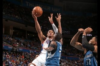 Les highlights du duel à distance Russell Westbrook (28 pts, 8 asts) – Karl-Anthony Towns (33 pts)