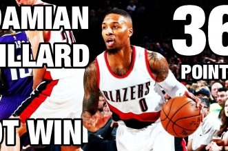 Les highlights du duel à distance Damian Lillard (36 pts) – DeMarcus Cousins (33 pts)