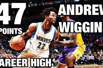 Les highlights du nouveau record en carrière d'Andrew Wiggins : 47 points !