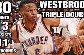 Les highlights du triple-double de Russell Westbrook: 30 points, 11 rebonds et 13 passes