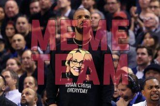 Meme Team des Starters:La danse de Gasol; le regard de tueur de Kevin Durant envers Drake